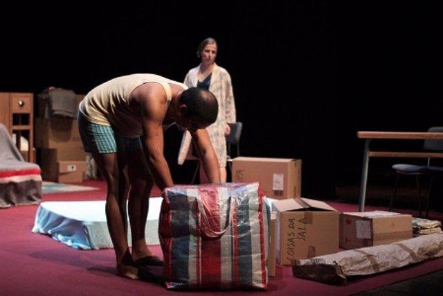 Imagen del ensayo de la obra de teatro 'Nunca estuve en Bagdad'