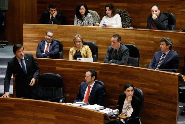 Javier Fernández en el Pleno de Orientación Política.