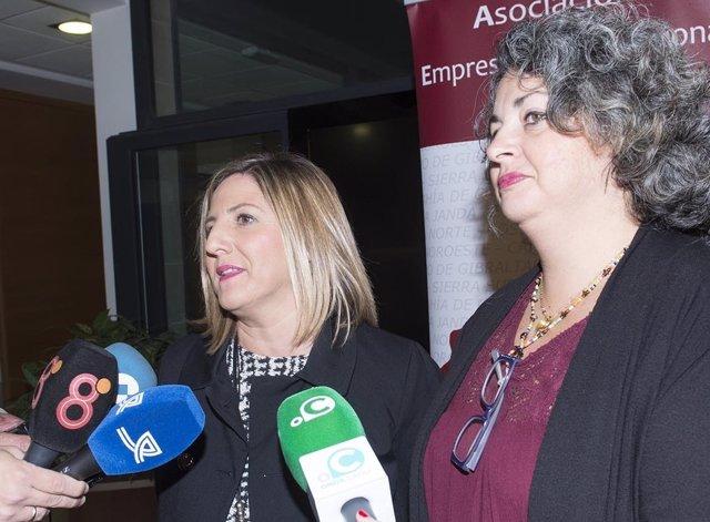La presidenta de la Diputación de Cádiz,  Irene García, en unas jornadas