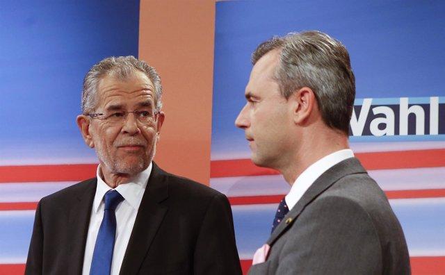 Alexander van der Bellen y Norbert Hofer