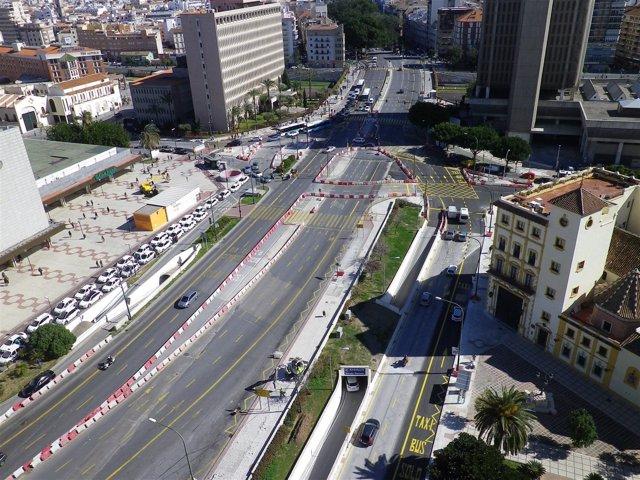 Tramo Renfe-Guadalmedina metro Málaga
