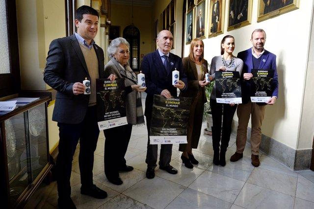 Presentación '24 horas' Manos Unidas en Málaga Pérez de Siles Ortega Montiel