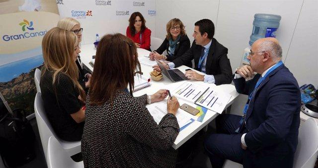 El presidente del Cabildo de Gran Canaria en la World Travel Market