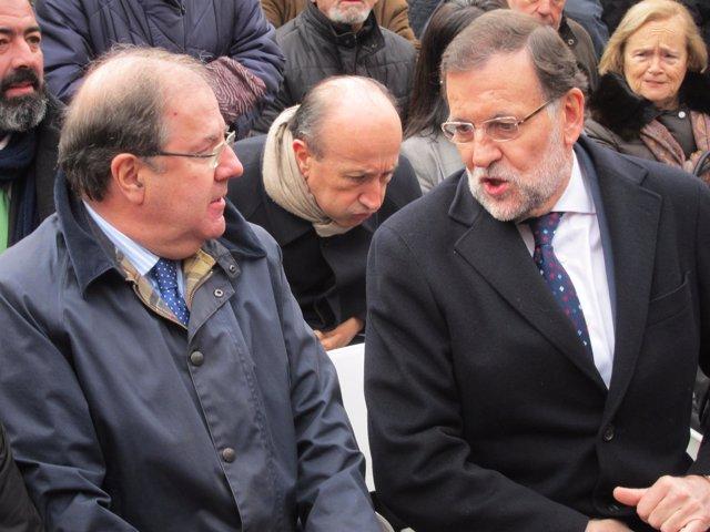 Mariano Rajoy y Carlos Herrera