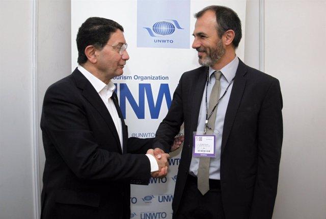 Barceló con Taleb Rifai de la OMT