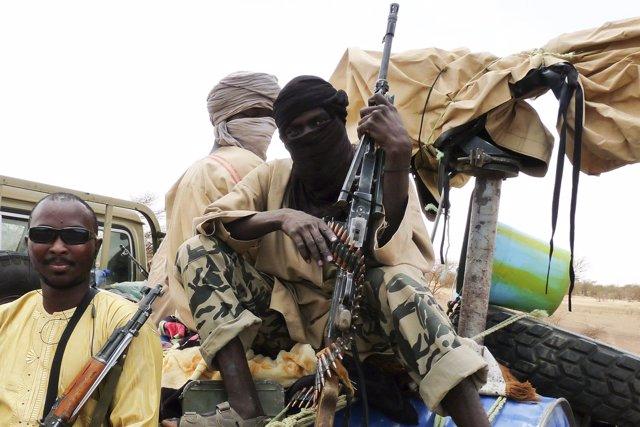Milicianos islamistas del grupo maliense Ansar Dine