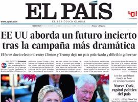 Las portadas de los periódicos de hoy, miércoles 9 de noviembre de 2016