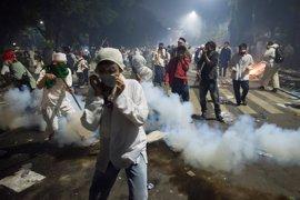 Cinco detenidos por la violencia durante las protestas contra el gobernador de Yakarta