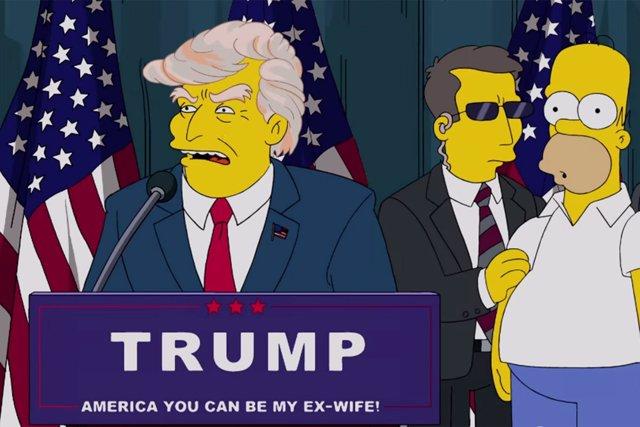 Imagen de Donald Trump en 'Los Simpson'