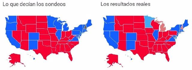 Sondeos vs. Realidad en EE.UU.