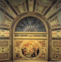 Pintura mural de la bóveda del Salón de Sesiones del Congreso