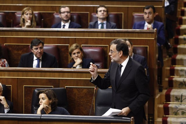 Mariano Rajoy en el debate de investidura en el Congreso