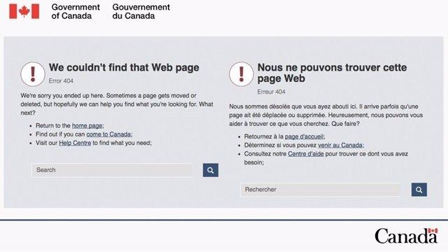 Colapso de la web de Inmigración canadiense.