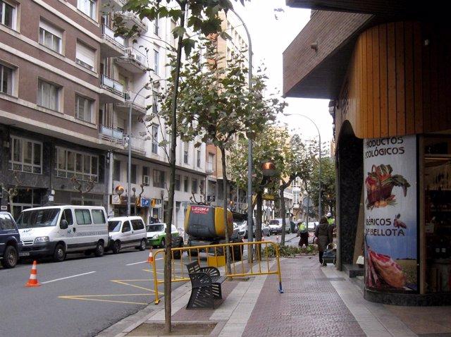 Imagen de operarios podando en la Avenida de Portugal