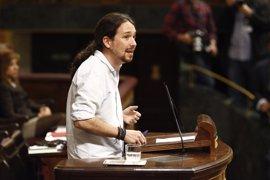 """Iglesias: Rivera apoya a Rajoy, """"que aplica las políticas más parecidas a Trump en España"""""""