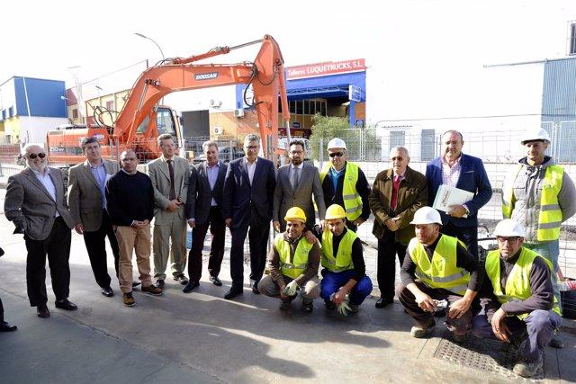 Francisco Pomares y Sergio Cubero en una visita a las obras.