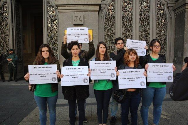 El Sindicato de Estudiantes presenta la huelga del 24 de noviembre