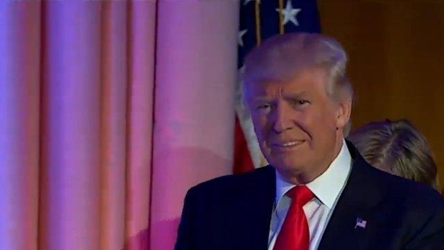 Un conciliador Trump pide renovar el sueño americano