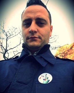 El presidente de la Casa de Galicia en Nueva York, Marcos Roel, después de votar