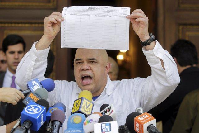 El líder opositor venezolano Jesús Torrealba