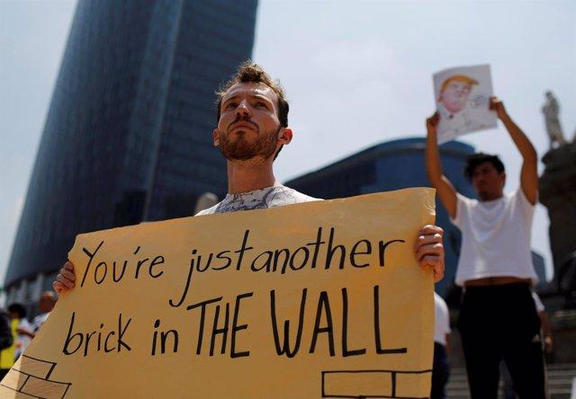 Protesta contra Donald Trump en México