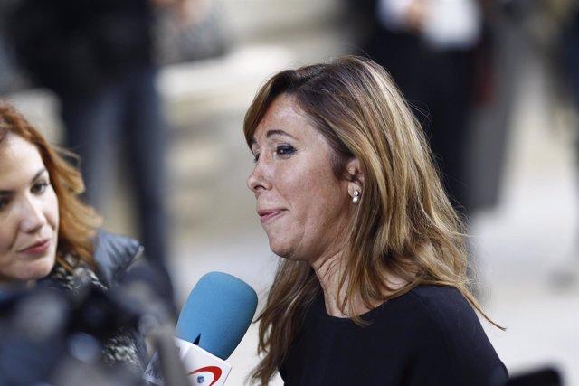 Alicia Sánchez Camacho a su llegada a la constitución del Congreso