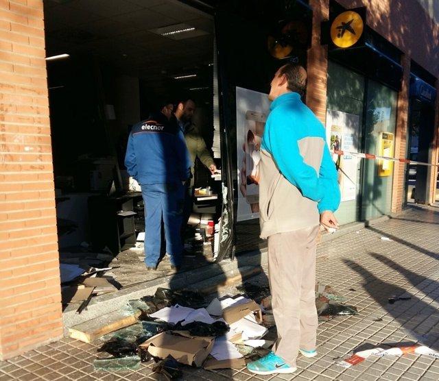 Una entidad bancaria de Mérida sufre un alunizaje