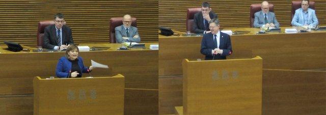 Debate entre Puig y Bonig en el pleno