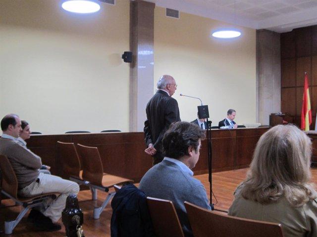 El condenado prestando declaración en el juicio