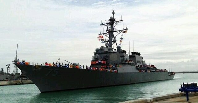 Destructor 'USS Donald Cook' de la Marina de EEUU, en su llegada a Rota