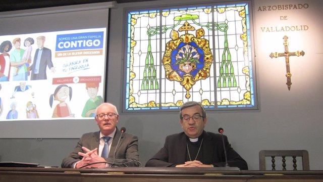 Conde (i) y Argüello (d) en rueda de prensa
