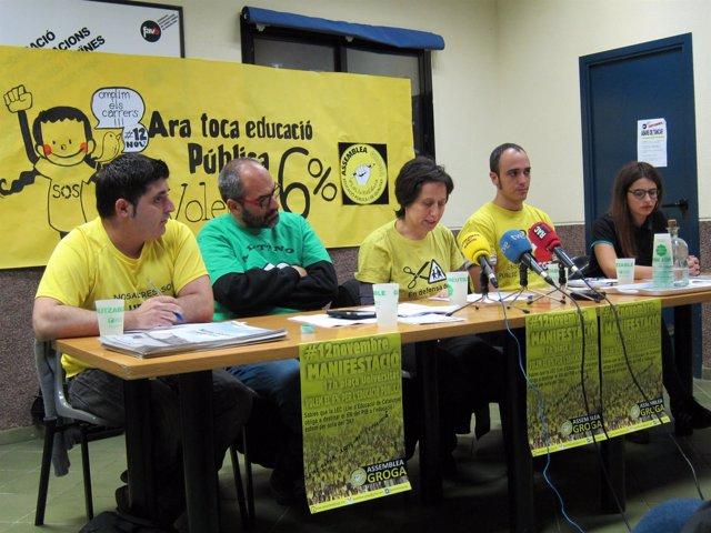 Representantes de la comunidad educativa catalana