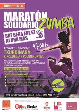 Cartel del Maratón Solidario de Zumba
