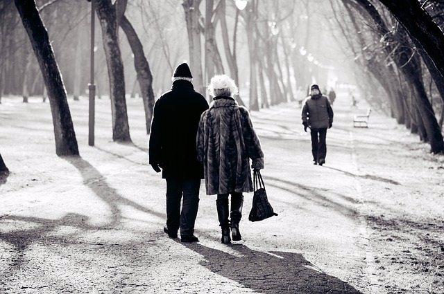 Mayores, invierno, ancianos