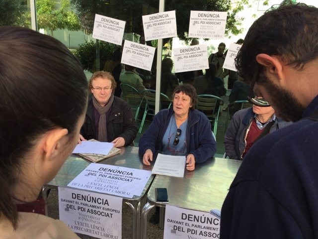 PDI asociados de la UV presenta la denuncia ante la UE