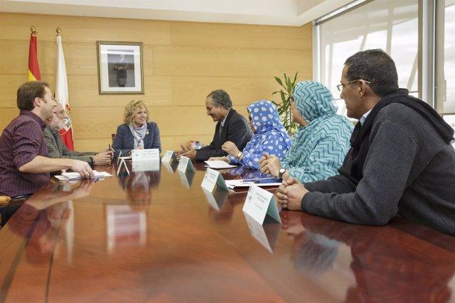 Reunión de delegación saharaui con el Gobierno de Cantabria