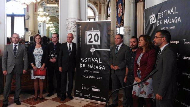 Presentación del cartel del festival de cine de málaga. 20 edición