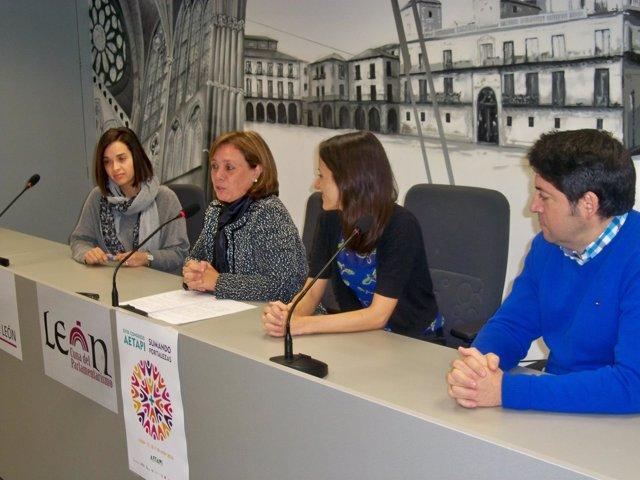Estela Gallego, Aurora Baza, Rocío García y Enrique Ortega