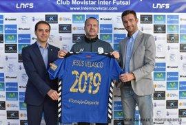 Jesús Velasco renueva hasta 2019 como entrenador del Movistar Inter