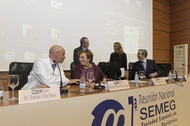 Inauguración congreso geriatría en Santander