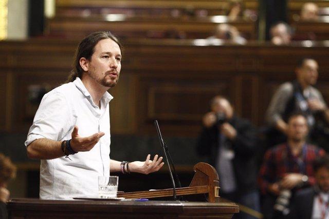 Pablo Iglesias en el Congreso en el debate de investidura