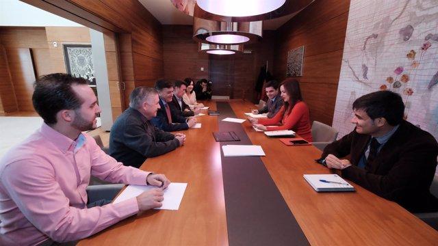 Reunión de la presidenta con instituciones de Segovia