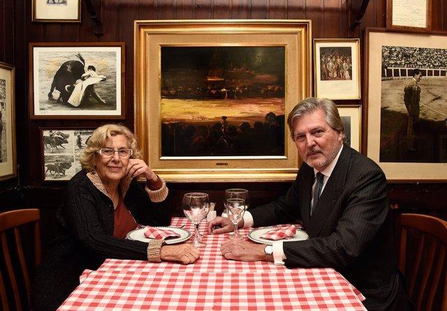 Manuela Carmena e Iñigo Méndez de Vigo