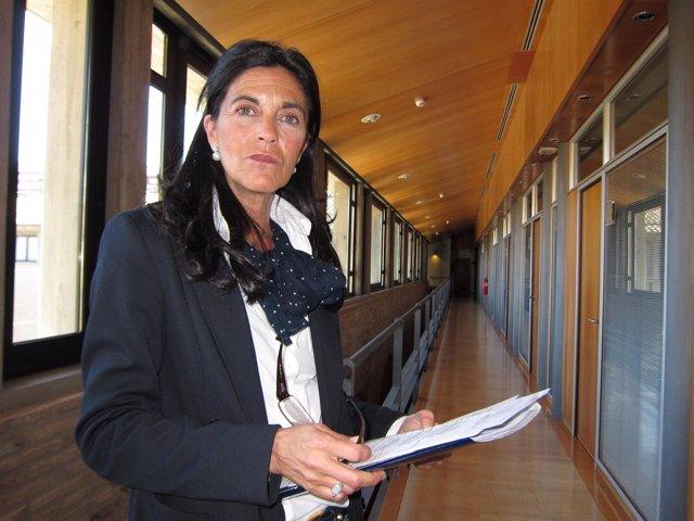 María José Ferrando, en las Cortes de Aragón