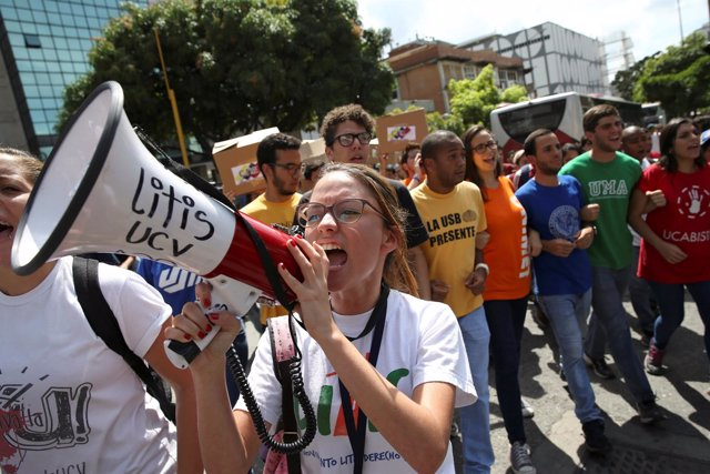 Protesta estudiantil en Venezuela