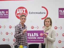 """UGT Extremadura califica la brecha salarial de 5.476 euros como """"violencia de género"""""""