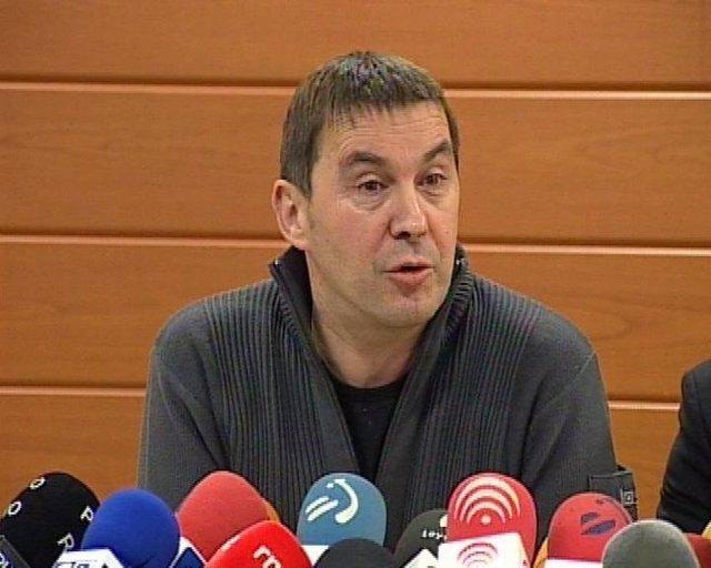 Rueda de prensa de Arnaldo Otegi en Bilbao