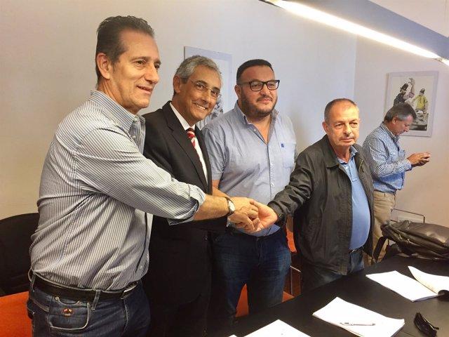Firma del convenio hostelería entre las patronales y sindicatos