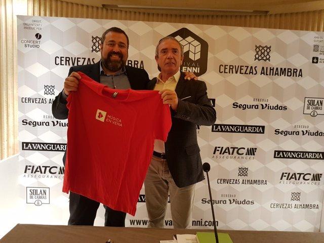Joan Corbera, Música en Vena, y Martín Pérez, director del Festival Mil·lenni