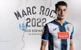 Marc Roca renueva con el RCD Espanyol hasta 2022 con una cláusula de 40 millones de euros